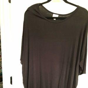 Black Ribbed High Low Shirt (LuLa Roe)